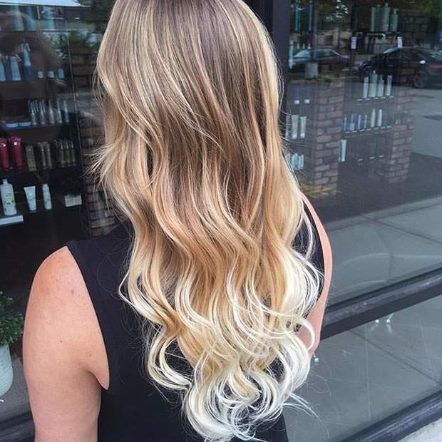 Balayage capelli chiari