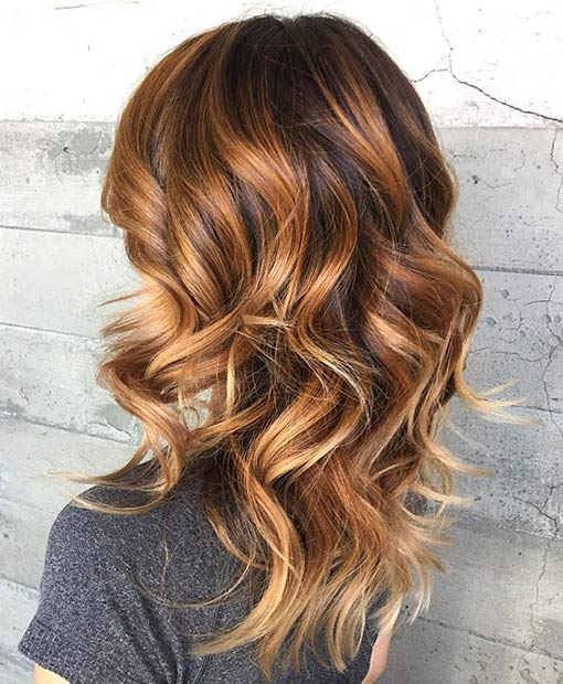 Balayage: capelli castani