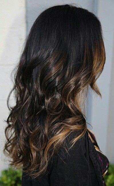 Balayage capelli scuri