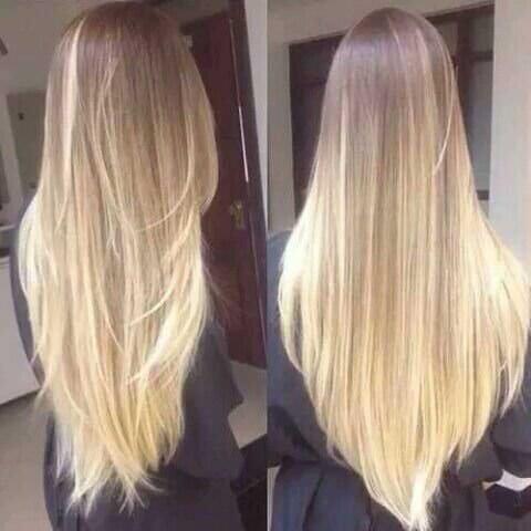 Degradé capelli biondi
